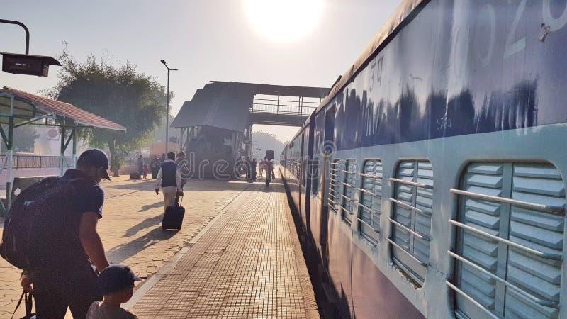 Platefarm de gare ferroviaire de Bikaner photo stock