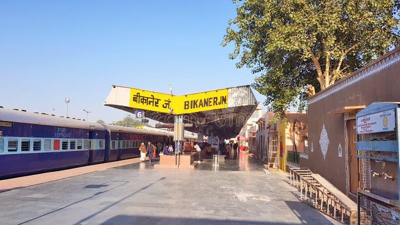 Platefarm de gare ferroviaire de Bikaner photos stock