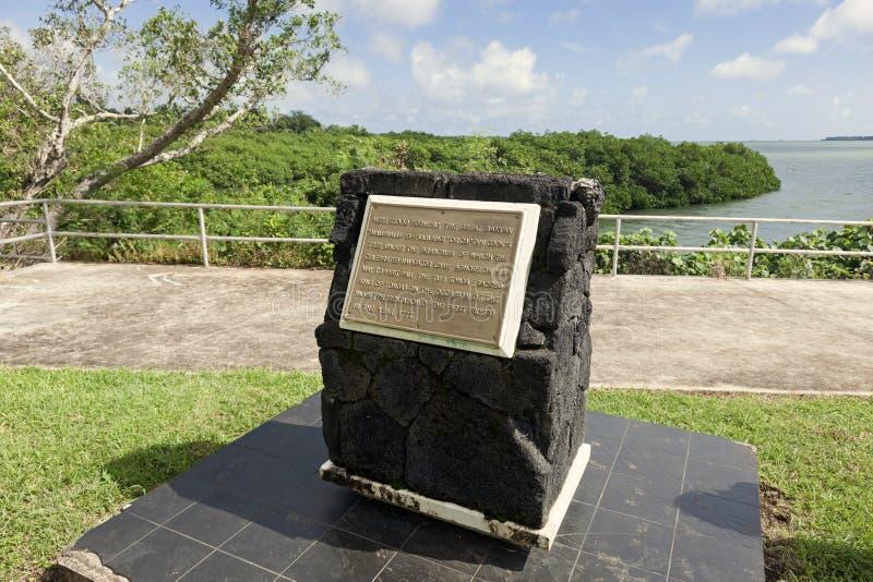 Plateforme d'atterrissage de €™s de capitaine Cookâ au Tonga photographie stock