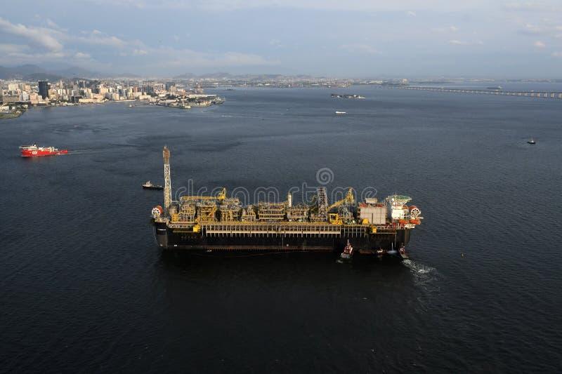 Plateforme pétrolière P67 images libres de droits