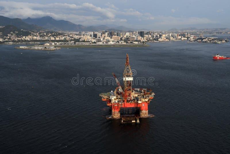 Plateforme pétrolière SS77 images stock