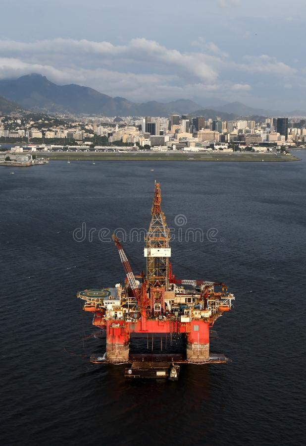 Plateforme pétrolière SS77 photo stock