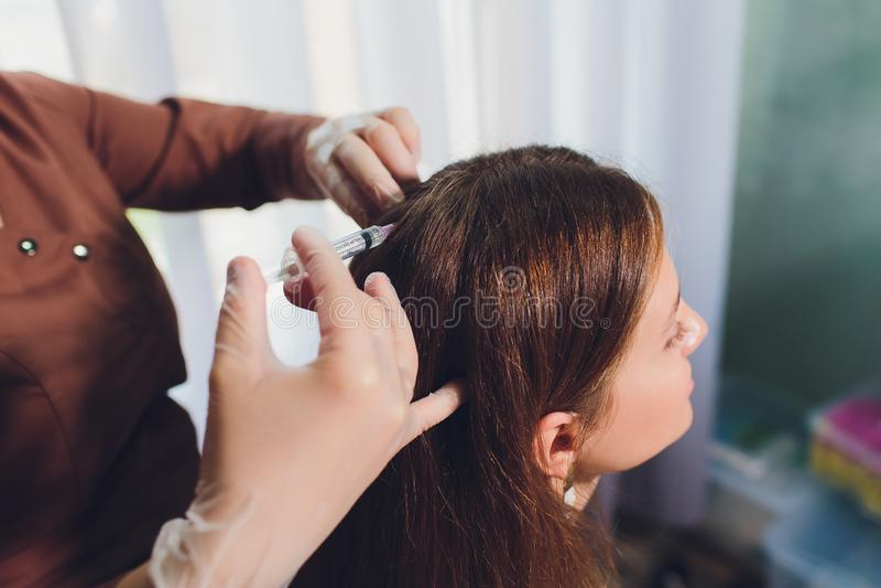 Platelet bogactwa osocze Odosobniony bia?y t?o kosmetologia zastrzyk obrazy royalty free