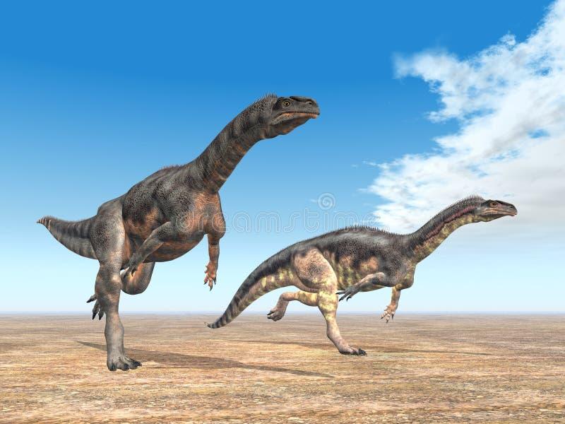 plateosaurus динозавра иллюстрация вектора