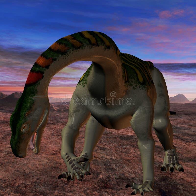 Plateosaurus-3D Dinosaur Stock Image