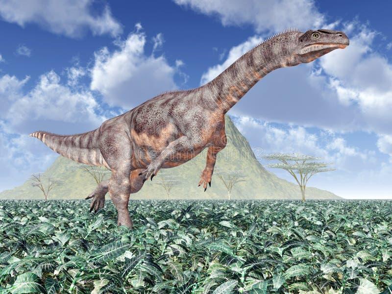 Plateosaurus de dinosaure illustration de vecteur