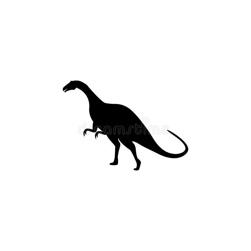 Plateosaurussymbol Beståndsdelar av dinosauriesymbolen Högvärdig kvalitets- grafisk design Tecken och symbolsamlingssymbol för we vektor illustrationer