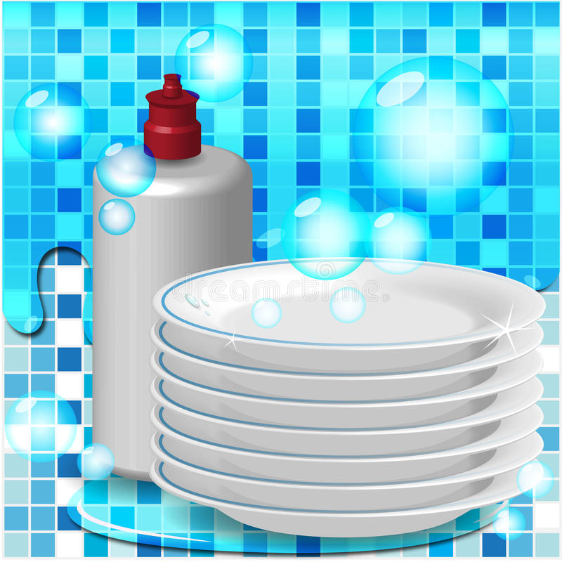 Plates stock illustration