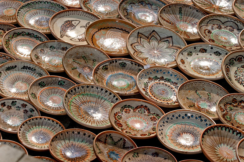 Plates. Some plates expose for sell stock image
