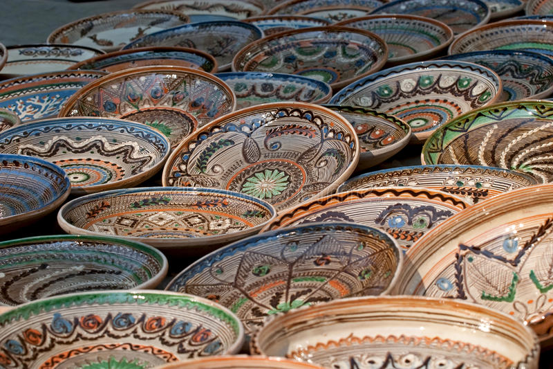 Plates. Some plates expose for sell royalty free stock photo