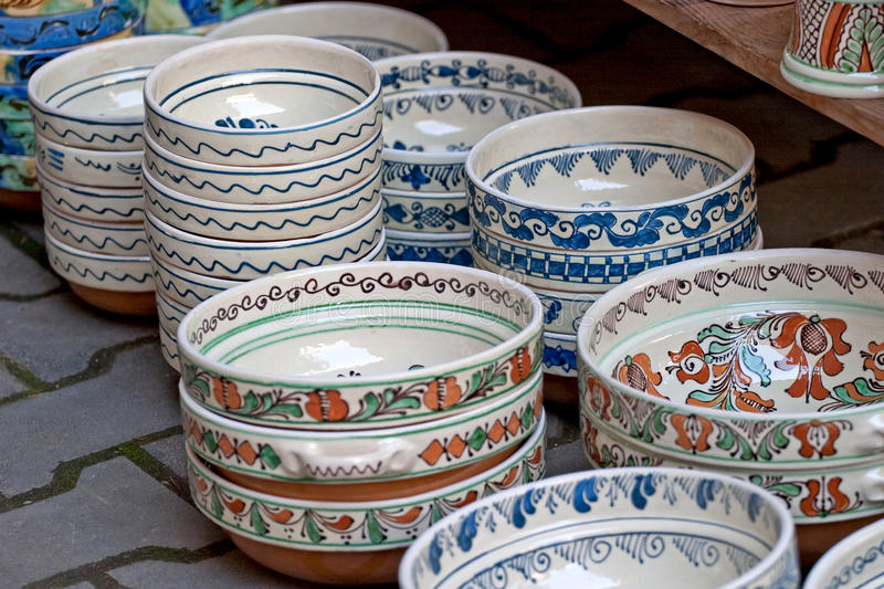 Plates. Some plates expose for sell royalty free stock images