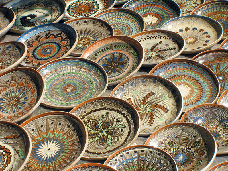 Plates. Some plates expose for selling stock photo