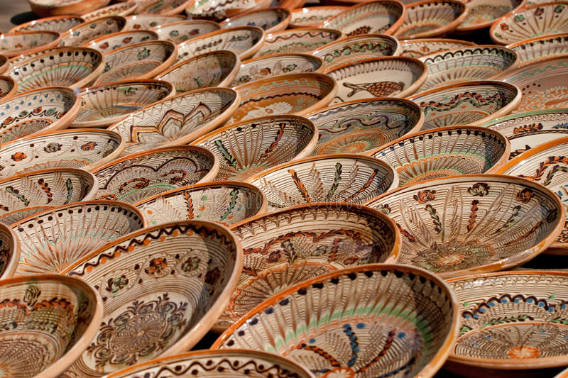 Plates. Some plates expose for sell royalty free stock image