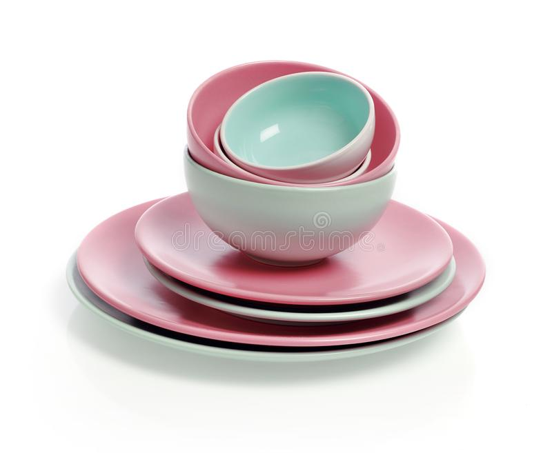 Plates and bowls stock photography