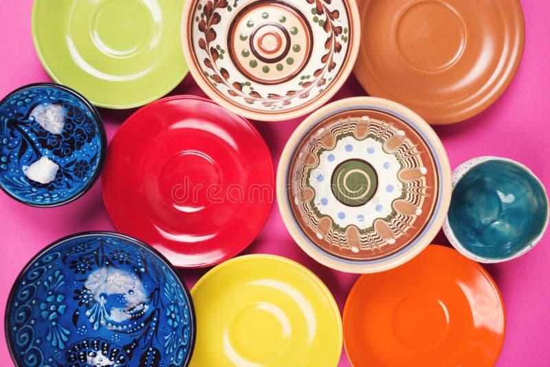 Plates and bowls royalty free stock photos