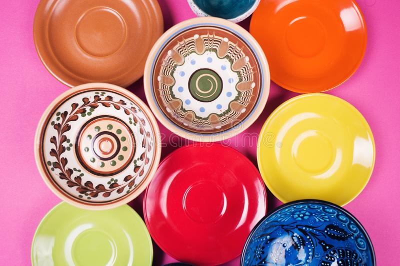 Plates and bowls stock photo