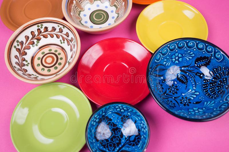 Plates and bowls stock images