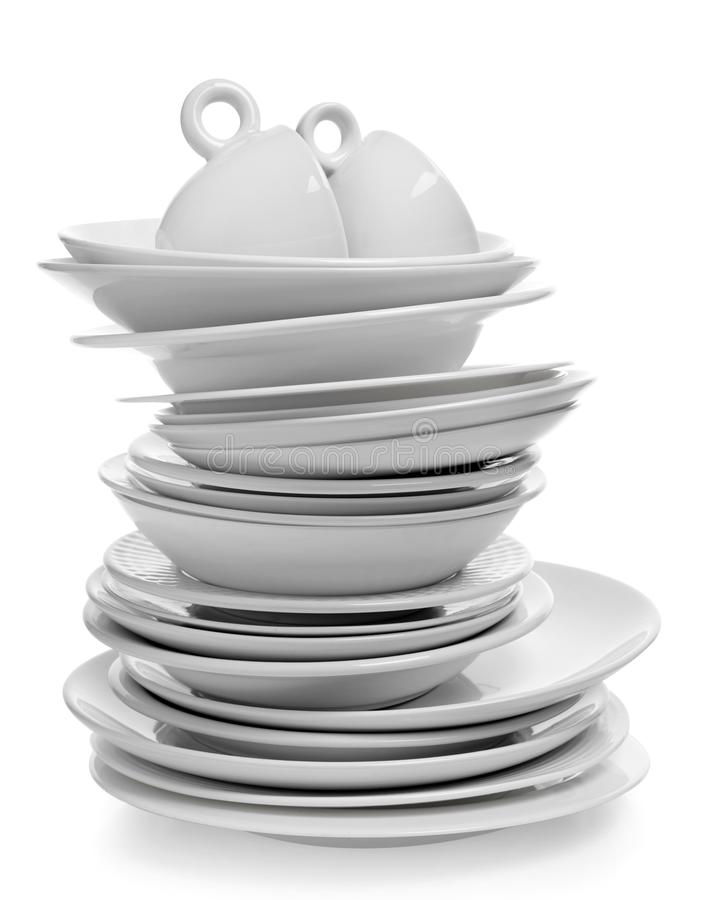 Plates and cups royalty free stock images