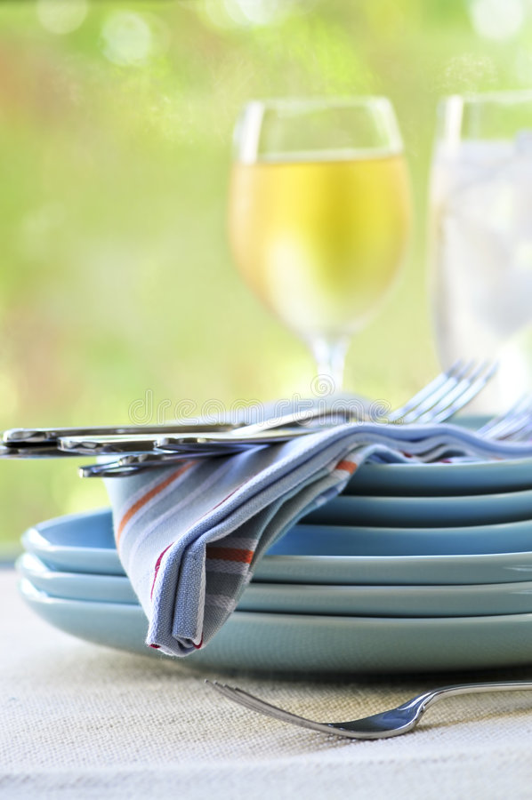 Download Plates and cutlery stock image. Image of casual, crockery - 7270903