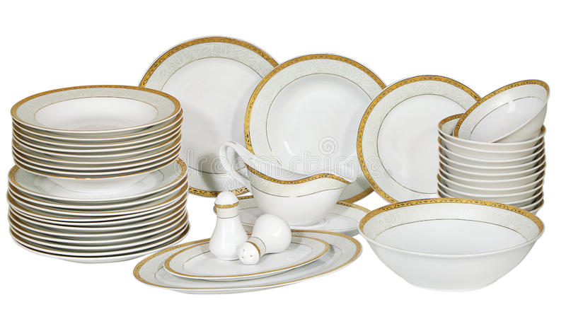 Plates and dishes stock photos
