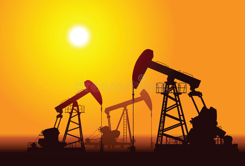 Plates-formes pétrolières illustration de vecteur