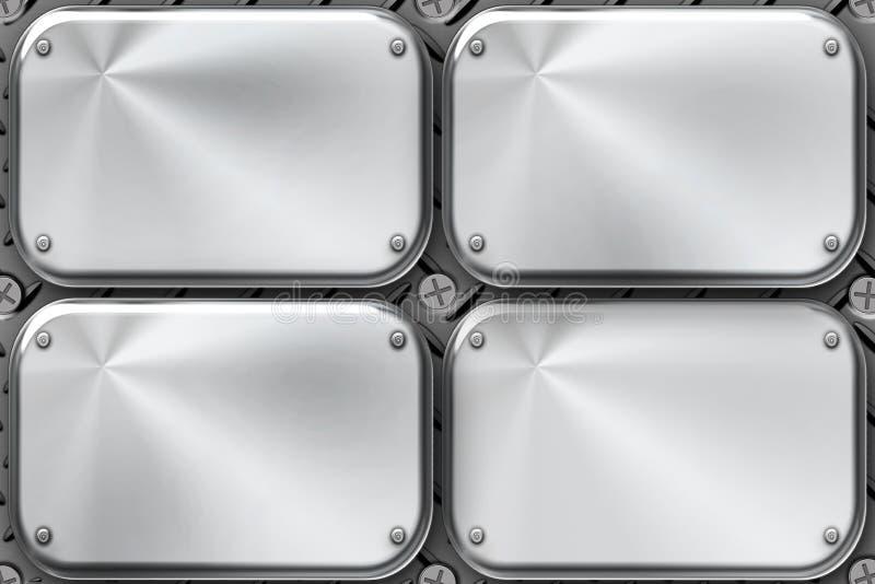 plates stål royaltyfri illustrationer