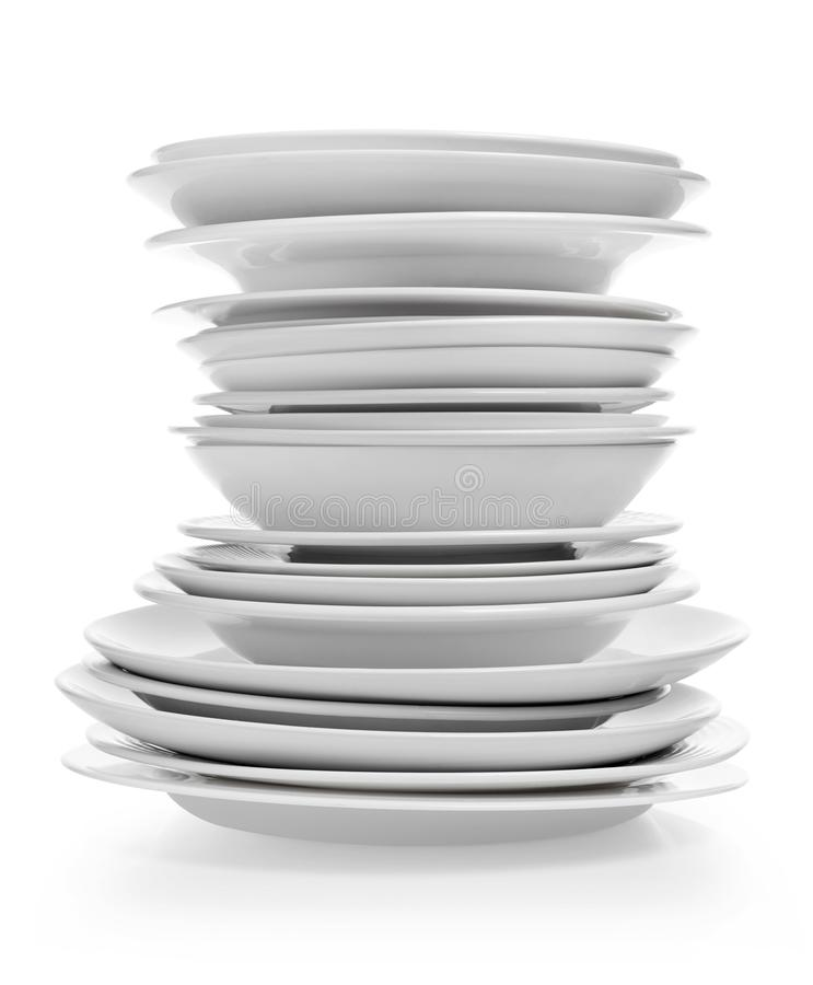 Plates stack royalty free stock photography