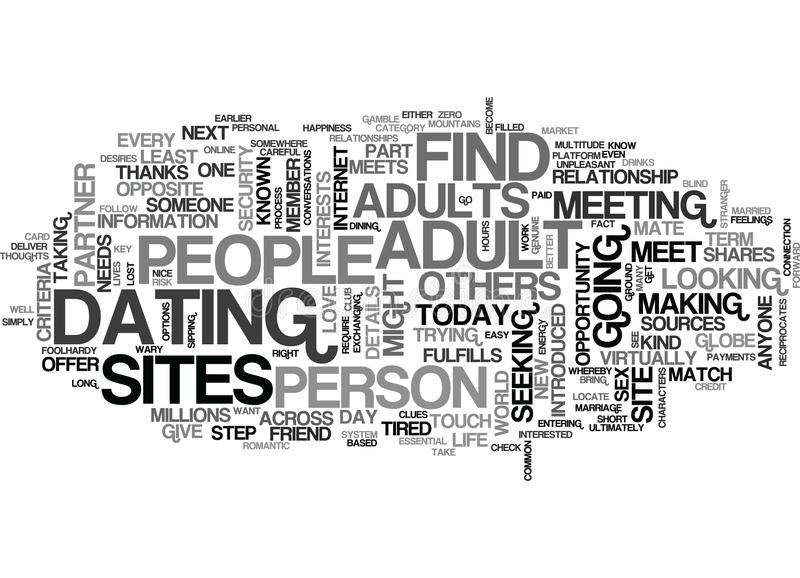 A Platform For Adults To Dateword Cloud. A PLATFORM FOR ADULTS TO DATE TEXT WORD CLOUD CONCEPT vector illustration