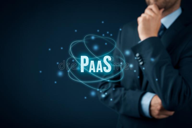 Platform as a service PaaS stock images