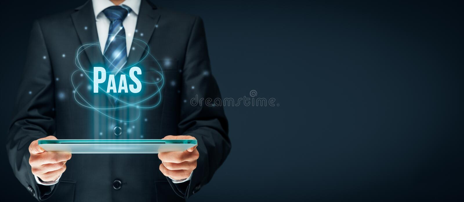 Platform as a service PaaS stock photo