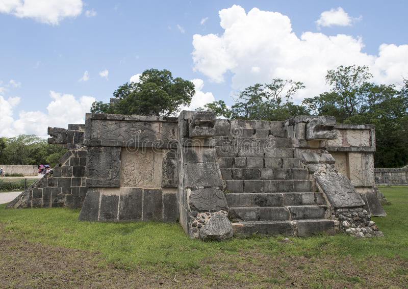 Platform of the Eagles and Jaquars, Chichen Itza stock image