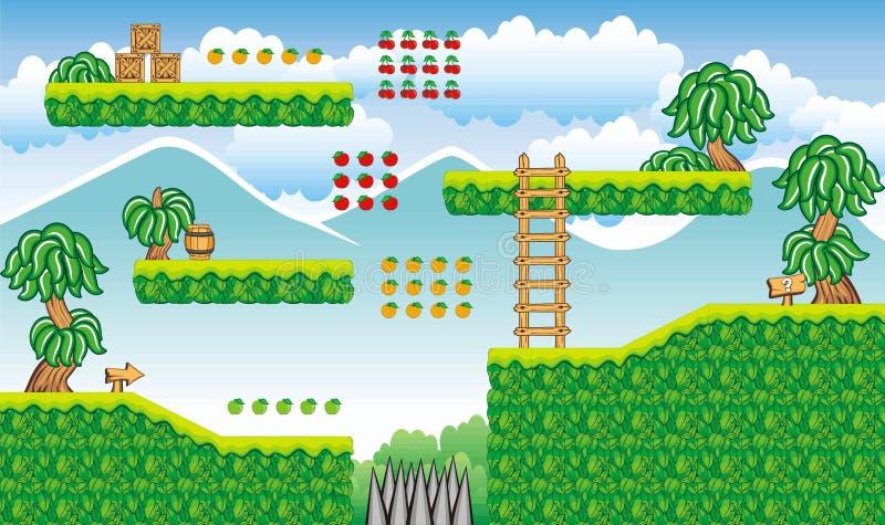 Platform game tileset 18 stock illustration