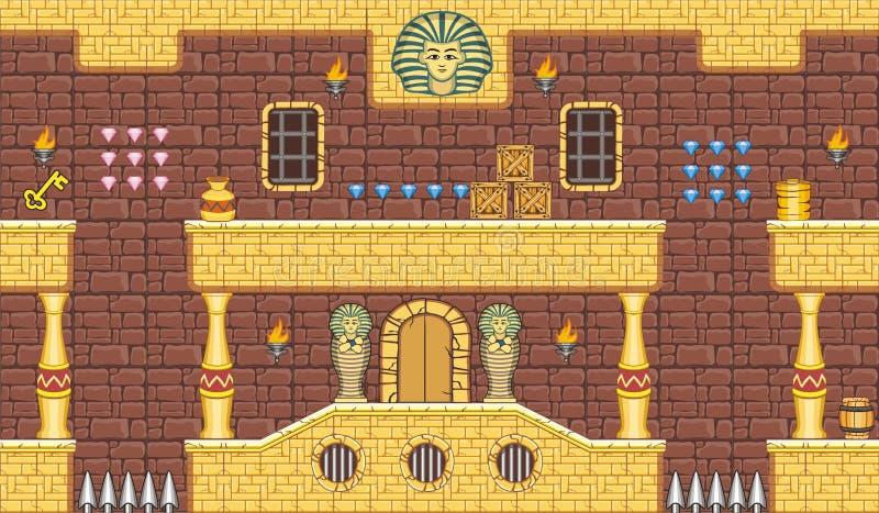 Platform game tileset 4 vector illustration