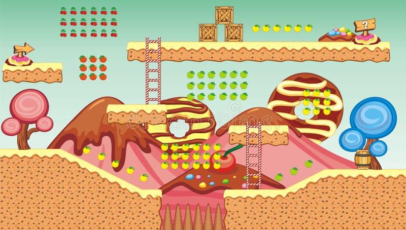 Platform game tileset 7 vector illustration