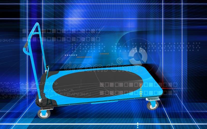 Download Platform trolley stock illustration. Image of three, trolley - 21142686