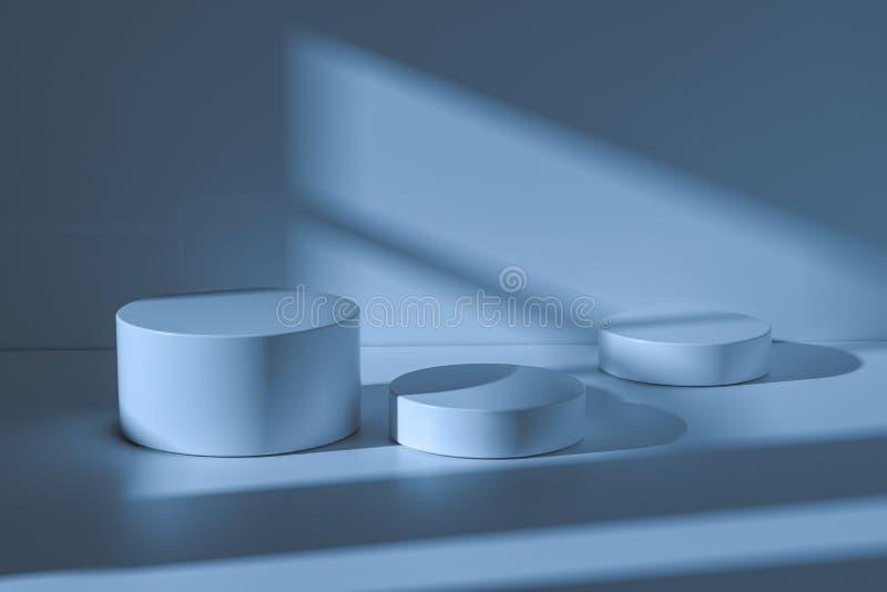 platforma dla produkt prezentacji w pustym pokoju, 3d rendering ilustracja wektor