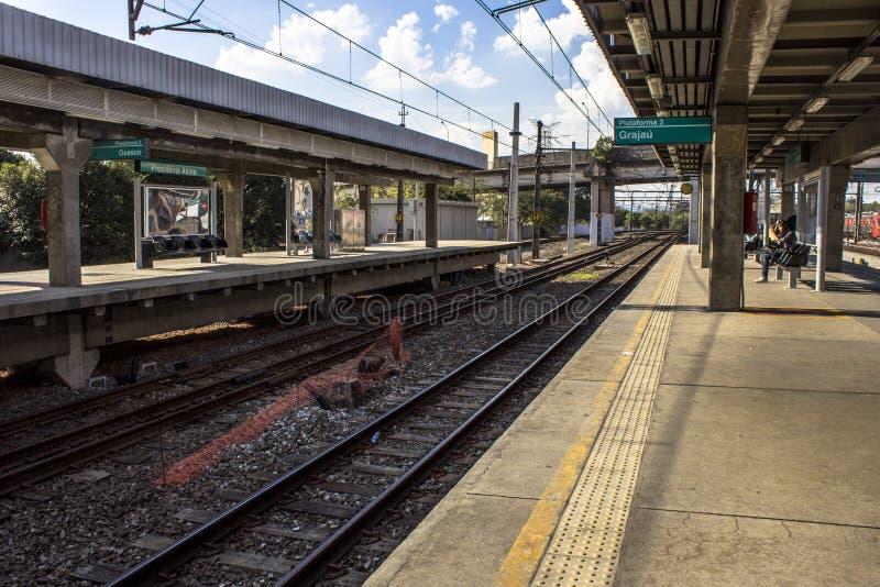 Platforma Sao Paulo metropolita pociągu firma obrazy stock