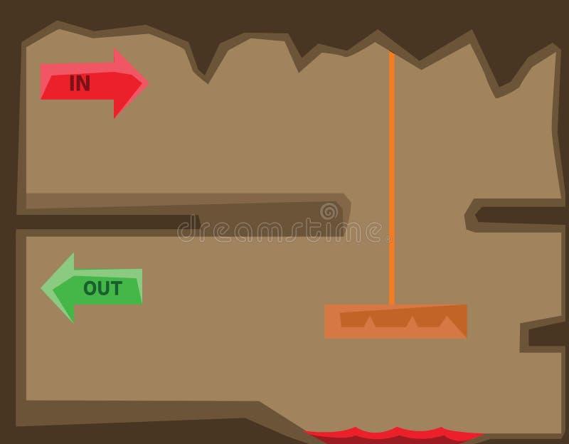 platformer比赛的平实设计图象 向量例证
