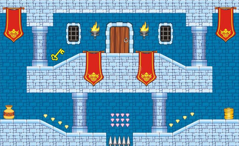 Platformspel tileset 9 royalty-vrije illustratie