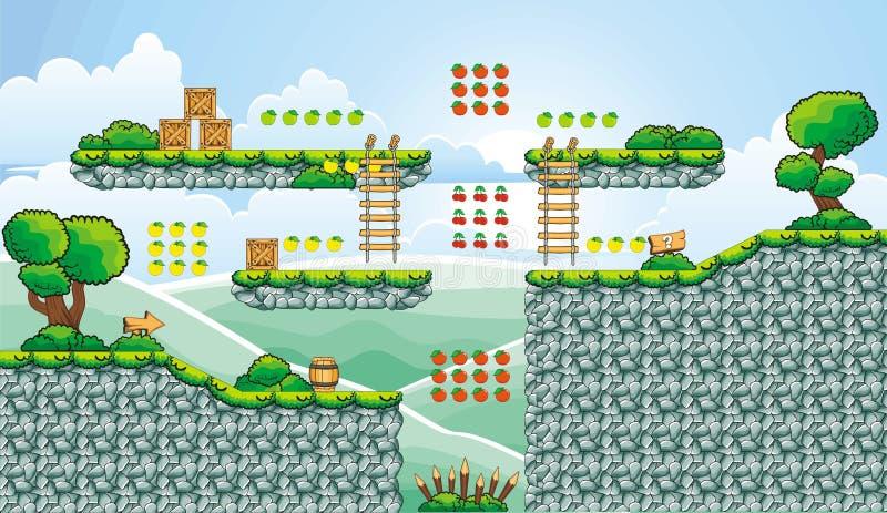 Platformspel tileset 12 vector illustratie