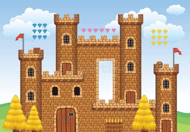 Platformspel tileset 15 royalty-vrije illustratie