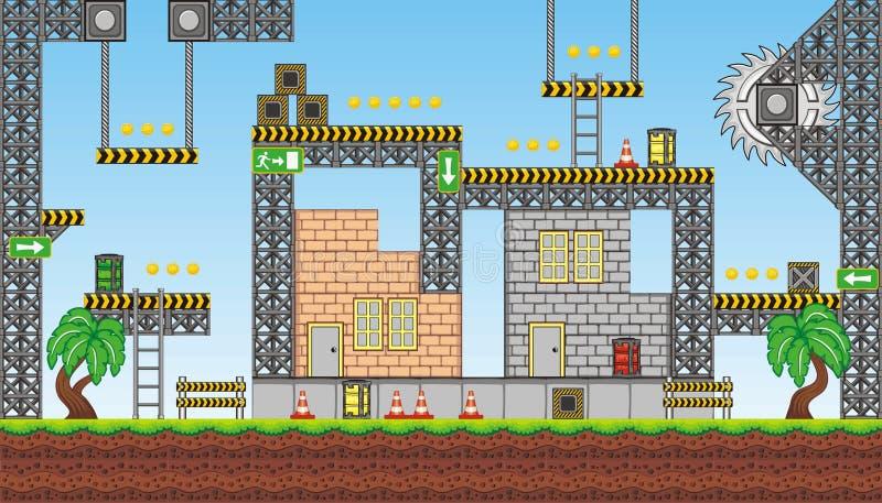 Platformspel tileset 2 stock illustratie