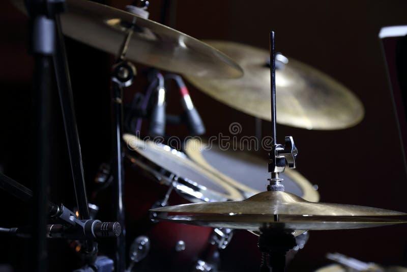 Platillo y tambores fotos de archivo libres de regalías