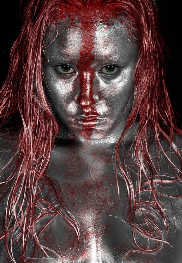 Platin-Rot-Streifen stockbilder