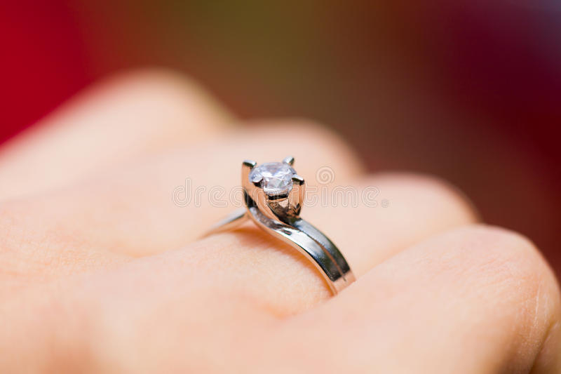 Platina Diamond Ring fotos de stock royalty free