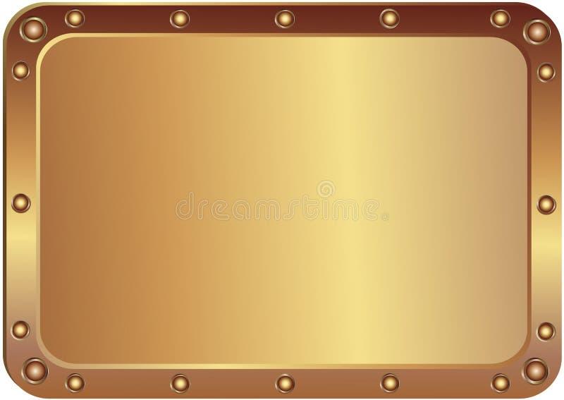 platine en métal illustration stock