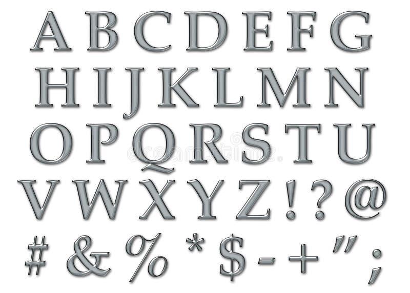 Download Platinum Alphabet Uppercase Stock Illustration - Image: 7657824