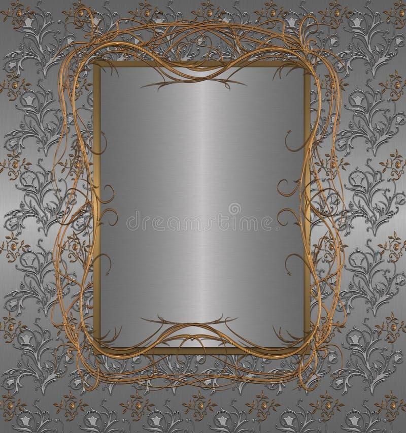 platinum banner royalty free illustration
