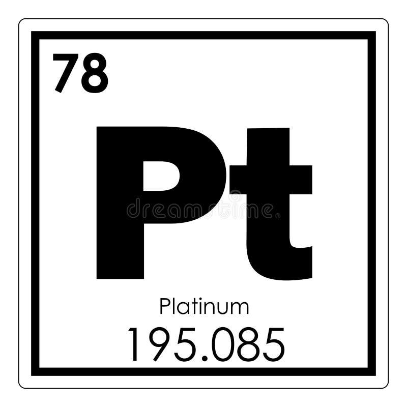 Platinum Chemical Element Stock Illustration Illustration Of