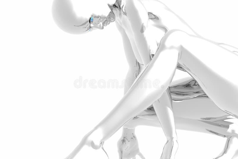 Platinum girl royalty free illustration